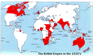 The British Empire in the 1920s.